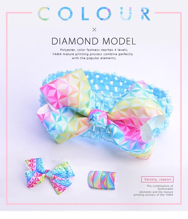 Diamond printed ribbon