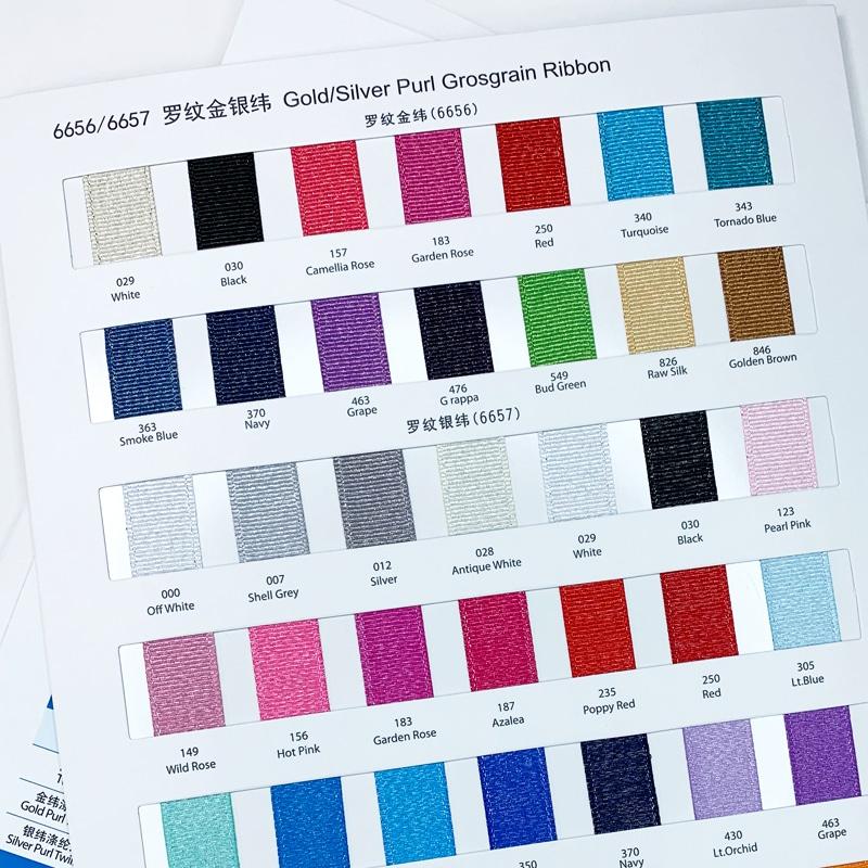 ribbon color charts