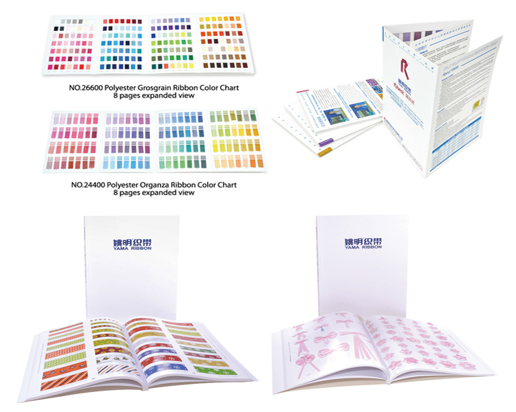 ribbon color cards and charts